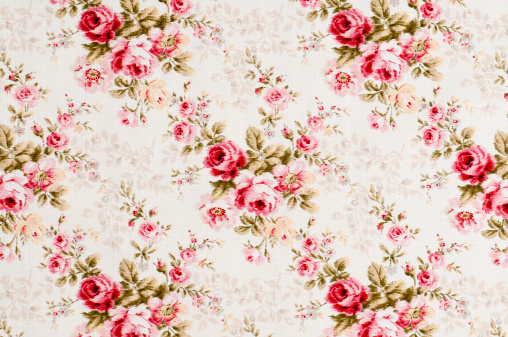 Floral Pattern「Cottonwood Close Up Antique Floral Fabric」:スマホ壁紙(6)