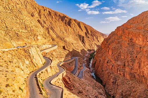 Steep「Steep mountain road - Dades Valley Morocco」:スマホ壁紙(2)