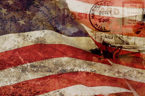 Democratic Party - USA「Old Postcard, United States Flag and Vintage Plane Collage Compilation」:スマホ壁紙(19)