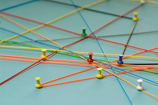 Network with pins:スマホ壁紙(壁紙.com)