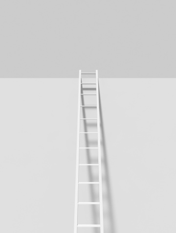 Part of a Series「White ladder on a white wall」:スマホ壁紙(5)