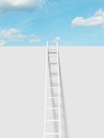 トウヒ「White ladder on a white wall」:スマホ壁紙(6)