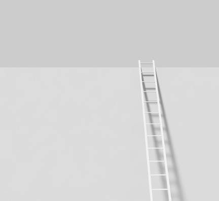 Part of a Series「White ladder on a wall」:スマホ壁紙(17)