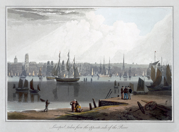 Commercial Dock「Liverpool Taken From The Oppersite Side Of The River' 1815」:写真・画像(15)[壁紙.com]