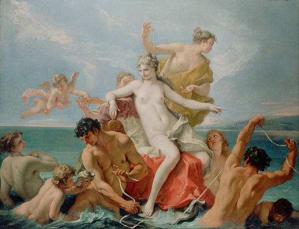 Oil Painting「Triumph Of The Marine Venus」:写真・画像(4)[壁紙.com]