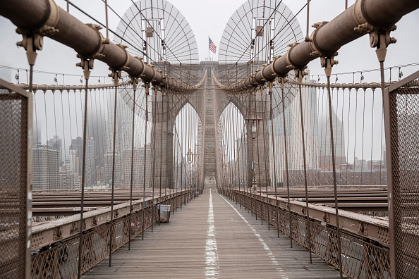 Brooklyn Bridge「Coronavirus Pandemic Causes Climate Of Anxiety And Changing Routines In America」:写真・画像(14)[壁紙.com]