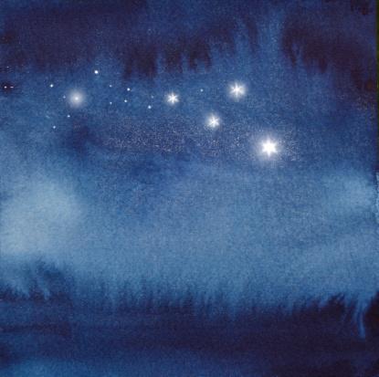 星空「Absract watercolour」:スマホ壁紙(2)