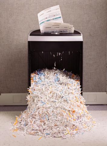 Destruction「Overflowing paper shredder」:スマホ壁紙(7)
