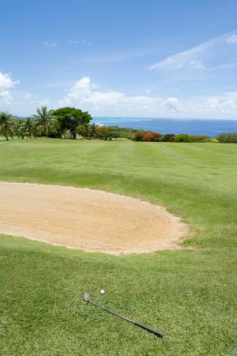 Sand Trap「Scenery of Golf Links by Ocean」:スマホ壁紙(5)