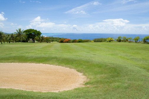 Sand Trap「Scenery of Golf Links by Ocean」:スマホ壁紙(3)