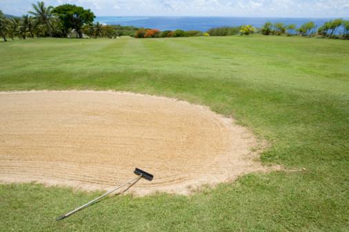 Sand Trap「Scenery of Golf Links by Ocean」:スマホ壁紙(4)