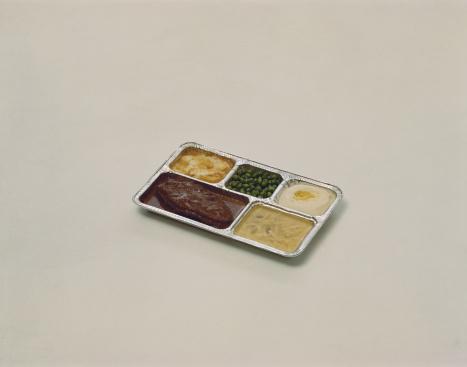 Convenience Food「TV dinner on white background」:スマホ壁紙(13)
