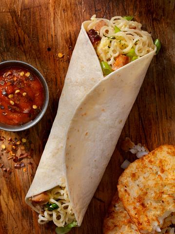 Taco「Ramon Noodle, Egg And Sausage Breakfast Burrito」:スマホ壁紙(3)