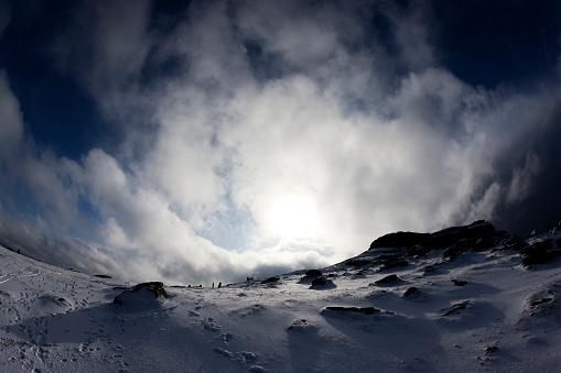 季節「Haytor の雪」:スマホ壁紙(19)