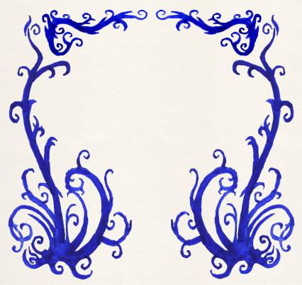 Floral Pattern「Grunge watercolor ornament」:スマホ壁紙(17)