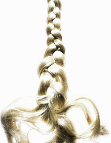 Long「Braided blond hair, close up」:スマホ壁紙(7)