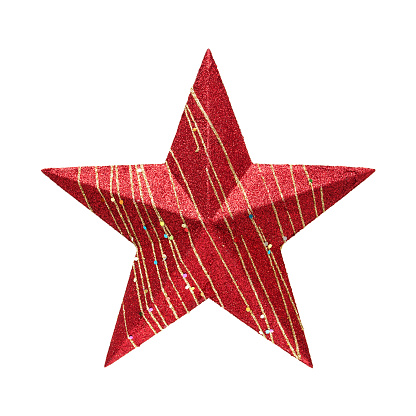 Sequin「Red Star (Clipping path!) isolated on white background」:スマホ壁紙(7)