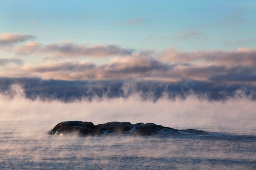 Great Lakes「winter mist on lake superior」:スマホ壁紙(6)