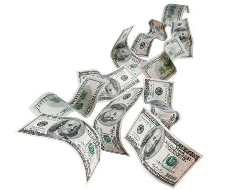 American One Hundred Dollar Bill「Falling Dollars $100 Bills」:スマホ壁紙(9)