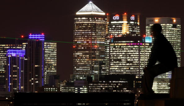 Office Building Exterior「Canary Wharf Skyline seen at Night」:写真・画像(18)[壁紙.com]