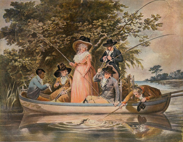 Rowing「A Party Angling, 1789, (1902).」:写真・画像(4)[壁紙.com]