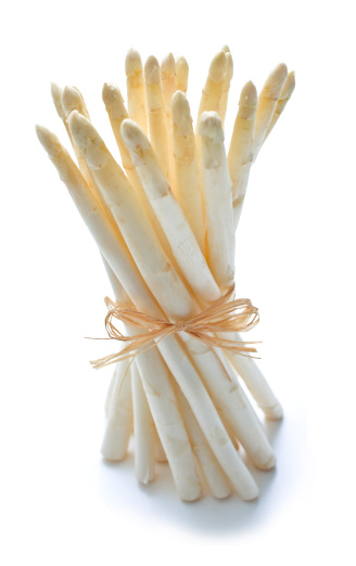 White Asparagus「A bunch of white asparagus loosely tied with twine on white」:スマホ壁紙(11)