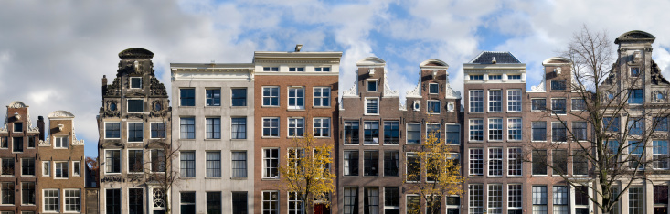 Amsterdam「Dutch Canal Houses in a Row」:スマホ壁紙(4)