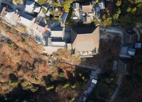 Higashiyama-ku - Kyoto「Kiyomizu-dera temple, aerial view」:スマホ壁紙(15)