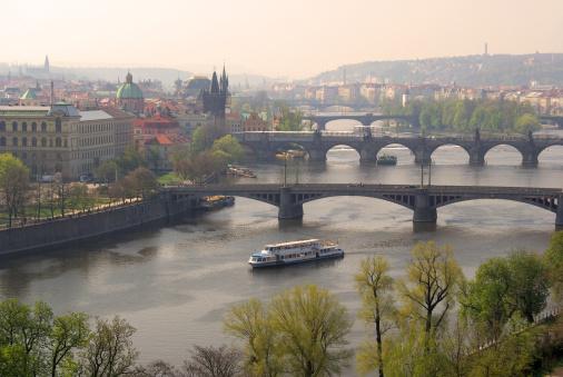 Charles Bridge「Prague bridges aerial view」:スマホ壁紙(17)