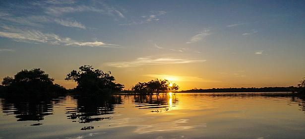 Amazon Rainforest「Sunset in Amazon river」:スマホ壁紙(14)