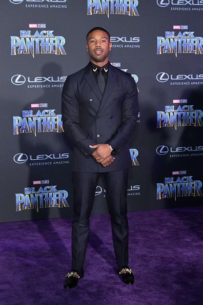 """Black Shirt「Premiere Of Disney And Marvel's """"Black Panther"""" - Arrivals」:写真・画像(4)[壁紙.com]"""
