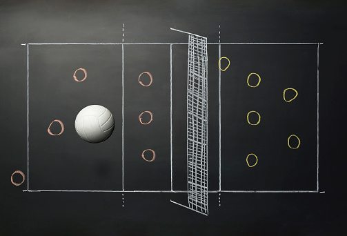 Chalk - Art Equipment「Volleyball on Blackboard」:スマホ壁紙(4)