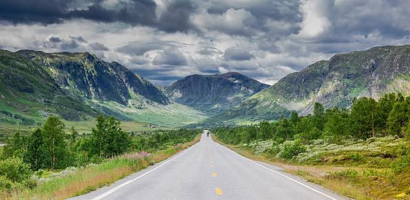 Single Tree「Stormy Norwegian Highway」:スマホ壁紙(11)