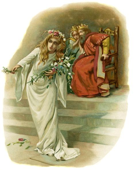 絵「Ophelia, mad with grief, mourns Polonius' death」:写真・画像(10)[壁紙.com]