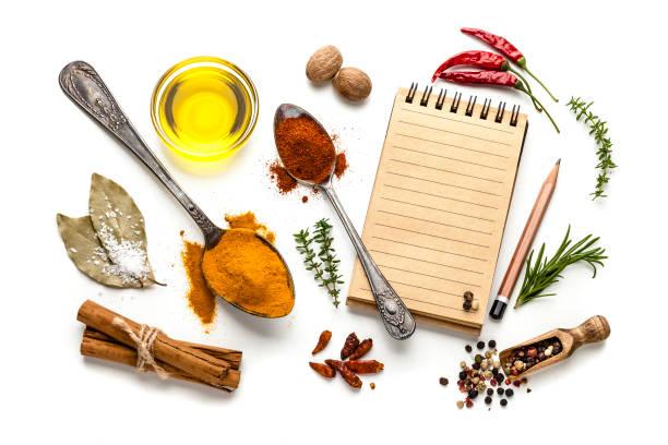 Blank cookbook and spices:スマホ壁紙(壁紙.com)