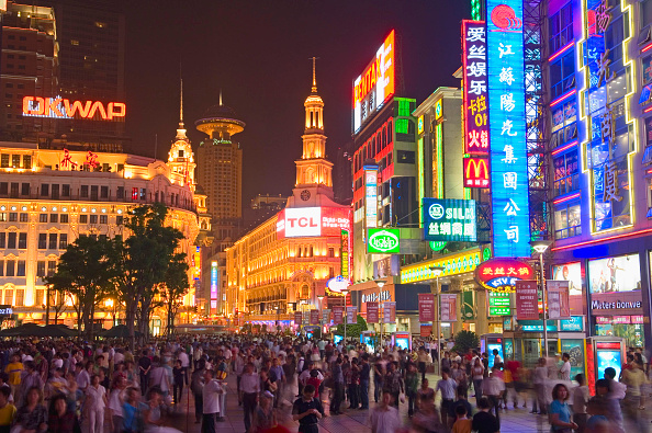 Cityscape「Nanjing Road at night, Shanghai's busy commercial street, Shanghai, China」:写真・画像(12)[壁紙.com]