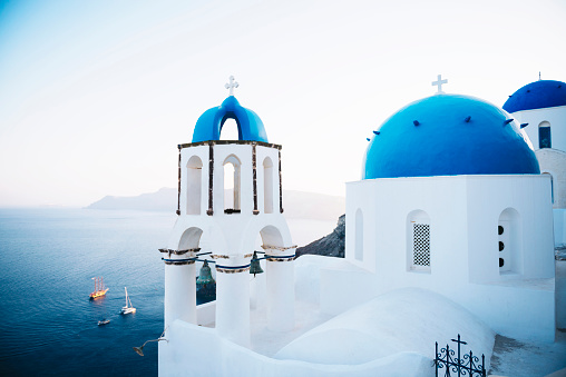 Santorini「Greece, Santorini, Oia, Greek Orthodox Church」:スマホ壁紙(16)