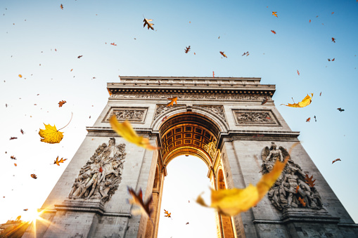 Arc de Triomphe - Paris「Falling Leaves In Paris」:スマホ壁紙(10)