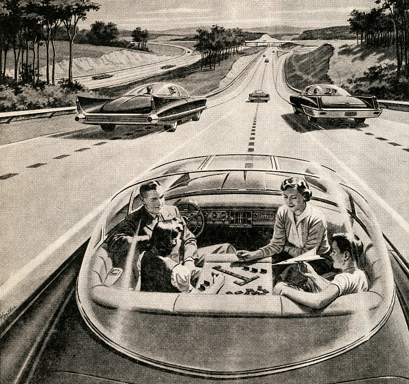 1950-1959「Family In Self-Driving Car」:写真・画像(3)[壁紙.com]
