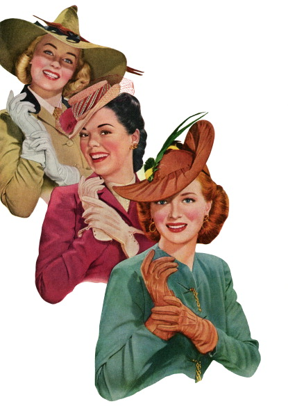 Personal Accessory「1940s Women Modeling Gloves」:写真・画像(15)[壁紙.com]