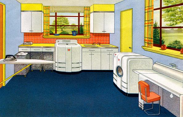 Mid-Century Style「1940s Spacious Laundry Room」:写真・画像(19)[壁紙.com]