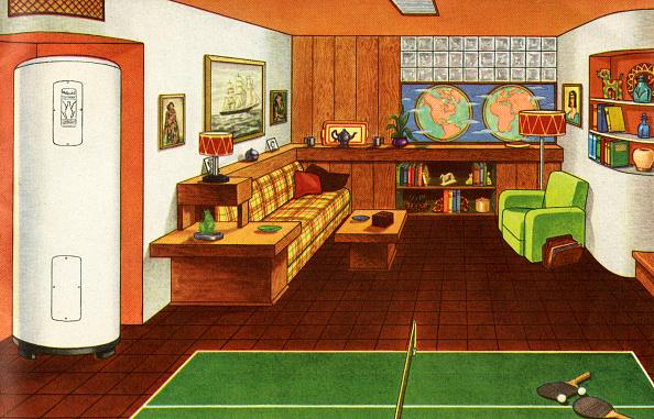 Mid-Century Style「1940s Den Or Rec Room」:写真・画像(10)[壁紙.com]
