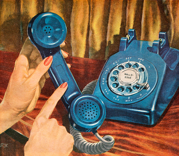 Old-fashioned「Blue Rotary Telephone」:写真・画像(8)[壁紙.com]