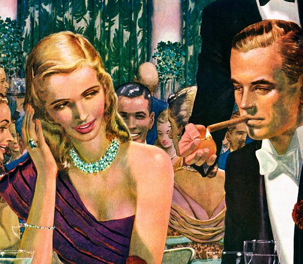 GraphicaArtis「1940s Couple Having Cocktails」:写真・画像(6)[壁紙.com]