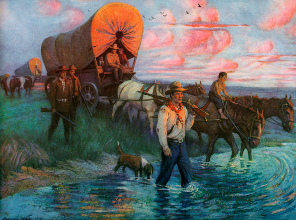 Working Animal「Wagon Train Of Settlers」:写真・画像(11)[壁紙.com]
