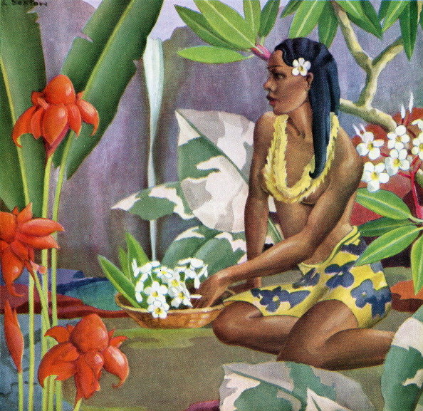 Frangipani「Hawaiian Woman In Landscape」:写真・画像(8)[壁紙.com]
