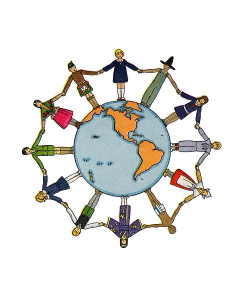 Circle「Kids Holding Hands On Globe」:写真・画像(5)[壁紙.com]