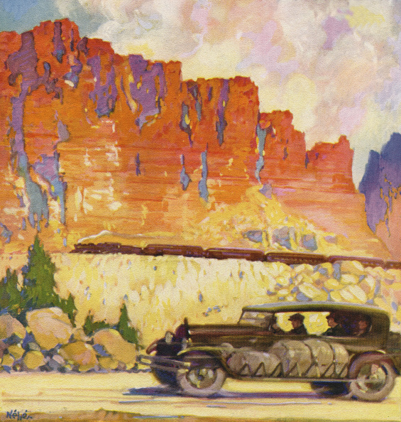 GraphicaArtis「Roadster Driving In Canyon」:写真・画像(8)[壁紙.com]