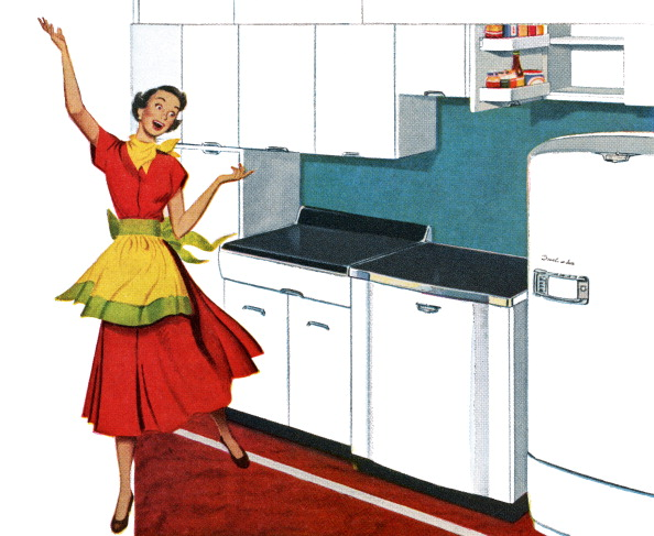 Kitchen「Housewife Dancing In Kitchen」:写真・画像(4)[壁紙.com]
