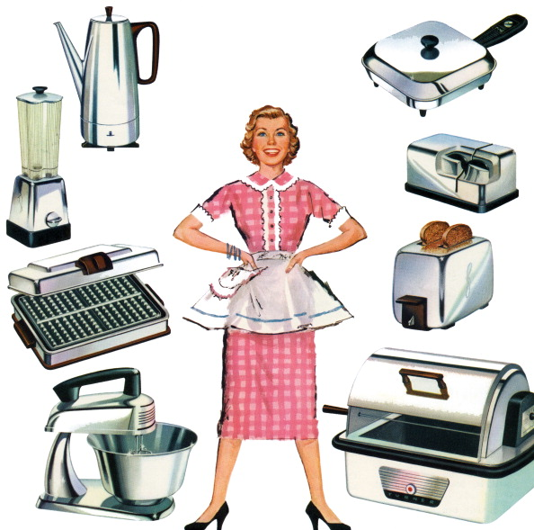 1950-1959「Woman With Kitchen Appliances」:写真・画像(1)[壁紙.com]